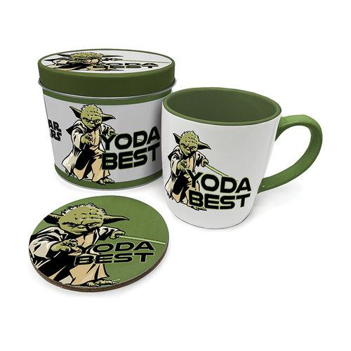 Star Wars Yoda Best Metal Tin Gift Set Mug & Coaster