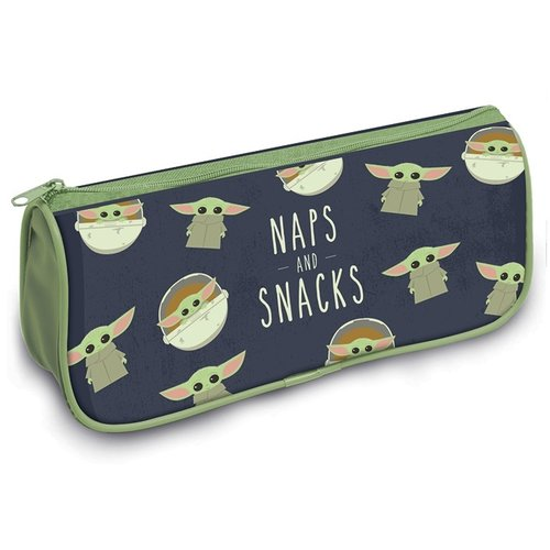 Star Wars The Mandalorian The Child  Naps and Snacks Crest Pencil Case