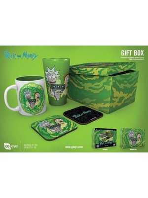 Rick and Morty Portal Gift Box Mug / Glass / 2 Coasters