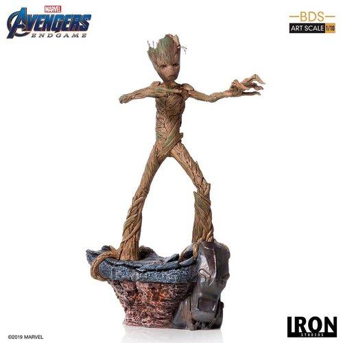 Marvel Avengers Endgame Groot 1:10 Scale Statue Ironstudios