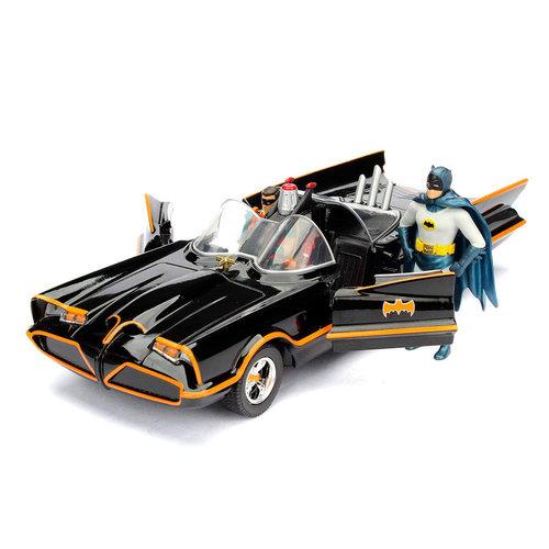 DC Comics Batman 1966 Batmobile + Figure DieCast Model 1:24