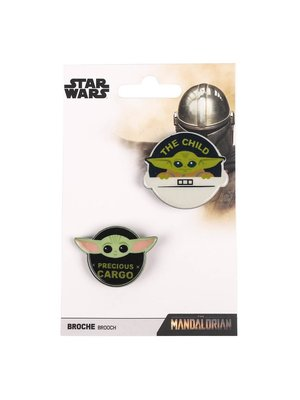Star Wars The Mandalorian The Child Brooches (set of 2)