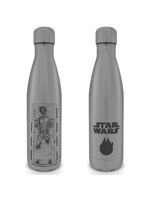 Star Wars Han Carbonite Metal Bottle 500ml