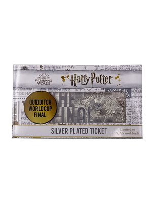 Harry Potter Quidditch World Cup Silver Plated Collector Ticket