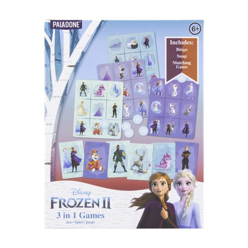 Disney Frozen II 3 in 1 Games Bingo / Memory  / Snap