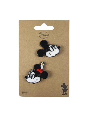 Disney Mickey & Minnie Mouse Brooches (set of 2)