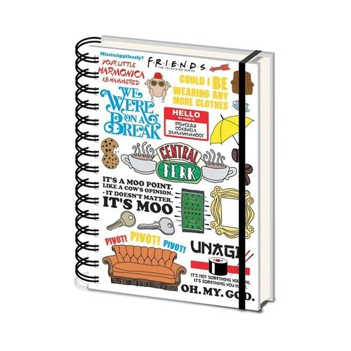 Friends The One With The Quotes Notebook A5