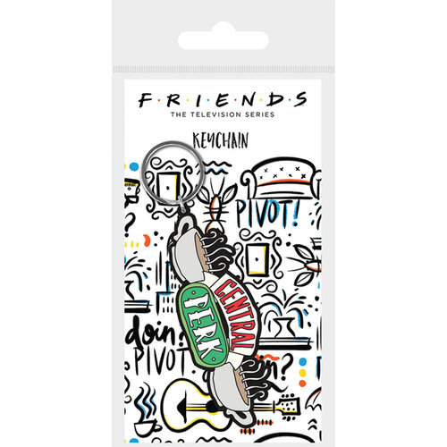 Friends Central Perk Rubber Keychain