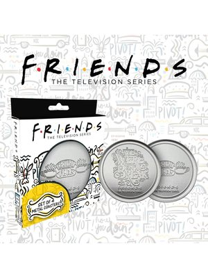 Friends Central Perk 4-Set Metal Coasters / Onderzetters