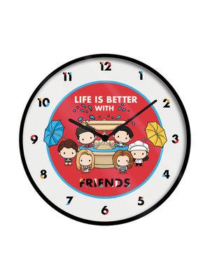 Friends Life is Better With Friends Wandklok 25cm Diameter