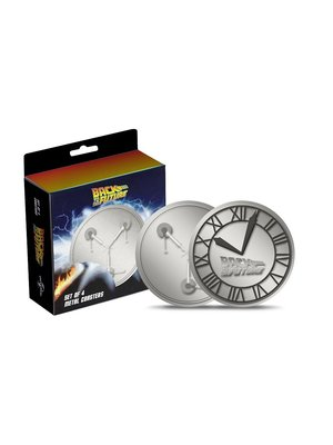 Back to the Future 4-Set Metal Coasters / Onderzetters