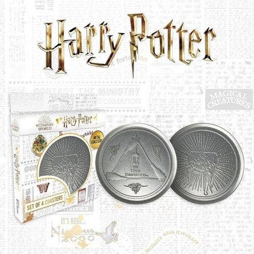 Harry Potter 4-Set Metal Coasters / Onderzetters