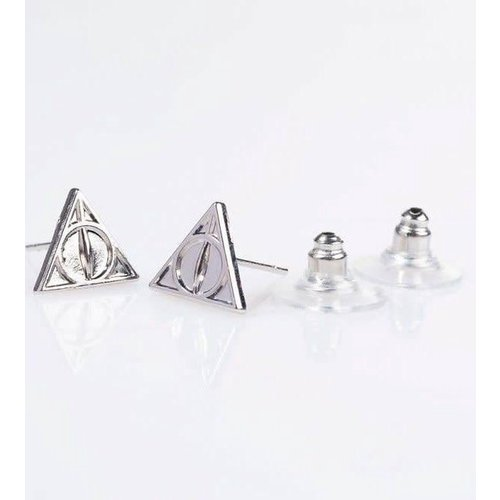 Harry Potter Deathly Hallows Gift Set Necklace + Stud Earrings