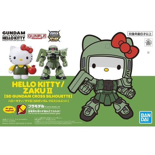 Gundam Hello Kitty Cross Silhouette  Zaku II Model Kit
