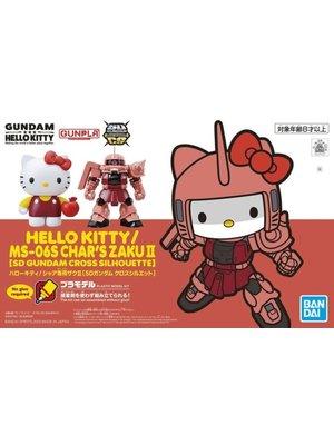 Bandai Gundam Hello Kitty Cross Silhouette Ms-06s Char's Zaku II Model Kit