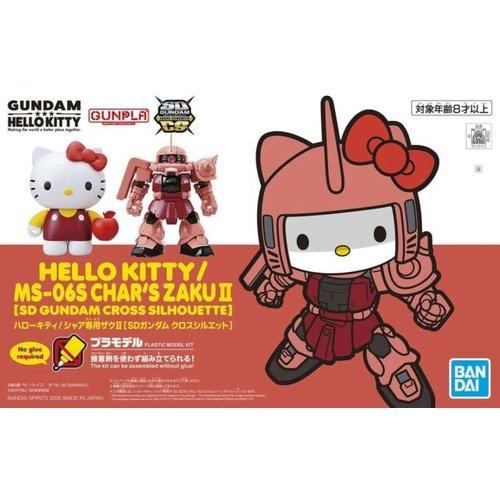 Gundam Hello Kitty Cross Silhouette Ms-06s Char's Zaku II Model Kit