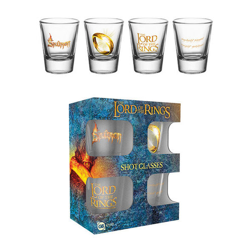 Lord of the Rings Shot Glass set of 4