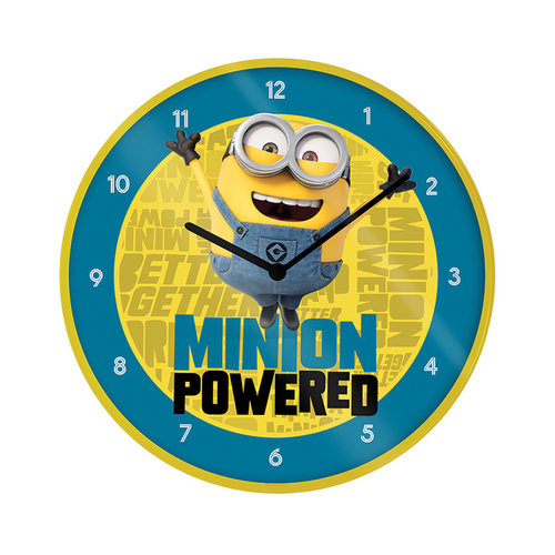 Minions The Rise of Gru Wandklok 25cm Diameter
