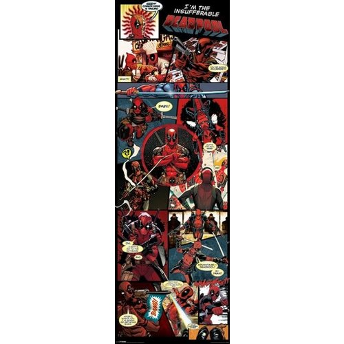 Deadpool Panels Doorposter 53x158cm