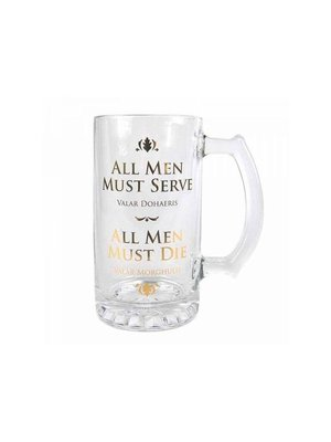 Game of Thrones All Men Must Die Tankard Beer Glass
