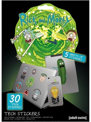 Rick and Morty Adventures Tech Stickers Set van 30 Stickers