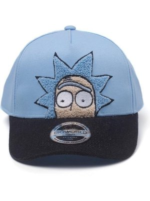 Rick and Morty Rick Chenille Flat Embroidery Curved Bill Cap