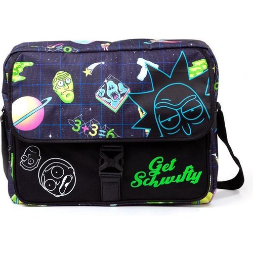 Rick and Morty Space All Over Print with Flock Print Messengerbag