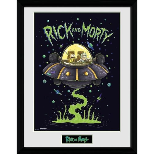 Rick and Morty Ship Framed Collector Print 30x40