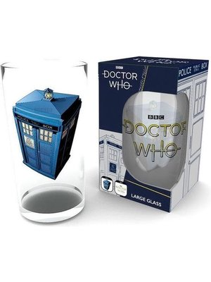 Doctor Who Tardis Large Glass 500ml