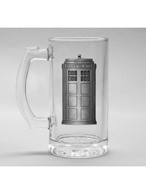 Doctor Who Tardis Beer Glass 500ml