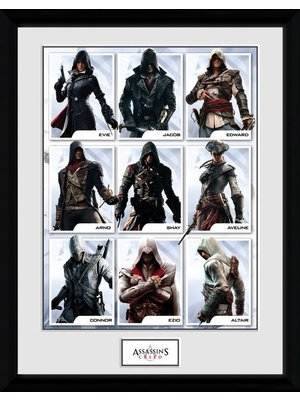 Assassins Creed Compilation Characters Framed Collectors Print 30x40