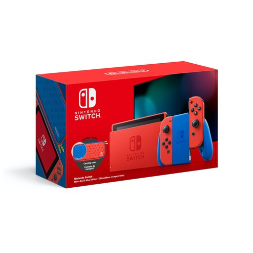 Nintendo Mario Red And Blue Switch Console Edition