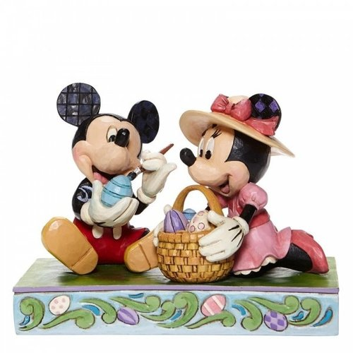 Disney Traditions Easter Artistry Mickey and Minnie Easter Figurine