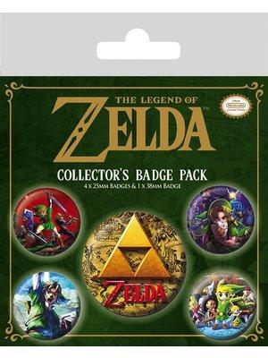 Legend of Zelda Classic 5 Badge Pack Buttons