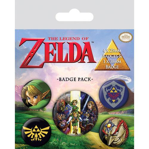 Legend of Zelda 5 Badge Pack Buttons