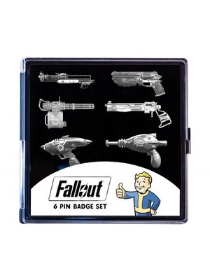 Fallout Limited Edition set of 6 Antique Nickel Pin Badges