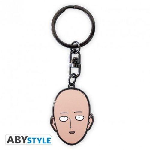 One Punch Man Saitama's Head Metal Keychain