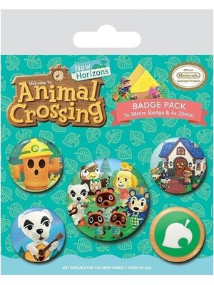 Animal Crossing Islander Button Pack of 5