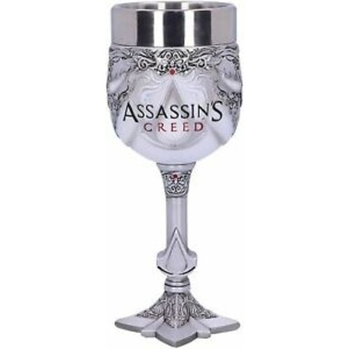 Assassins Creed Logo Resin Goblet Hand Painted 18cm