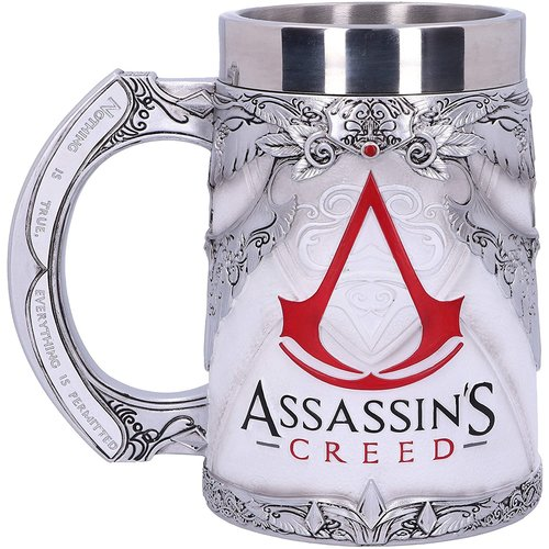 Assassins Creed Logo Resin Beer Stein Hand Painted 15cm