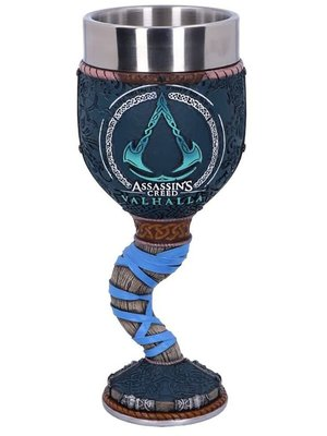Assassins Creed Valhalla Logo Goblet Hand Painted Sculpted Design 18cm