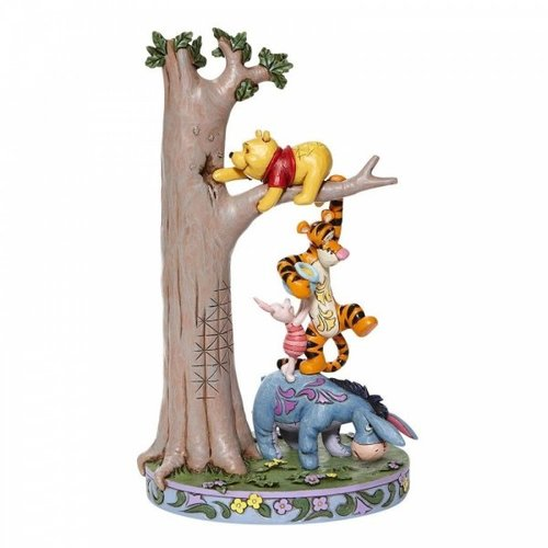 Disney Traditions Disney Traditions Hundred Acre Caper Tree with Pooh and Friends Figurine