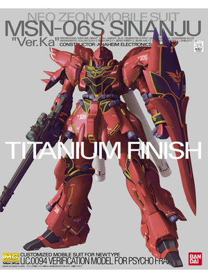 Bandai Gundam MG MSN-06S Sinanju Ver KA Titanium Finish Model Kit