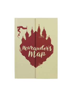 Harry Potter Marauders Map Glow in the Dark Notebook A5