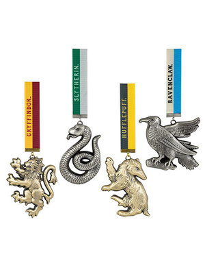 The Noble Collection Harry Potter Set of 4 House Mascot Ornaments Noble Collection