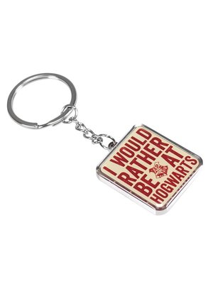 Harry Potter Rather Be At Hogwarts Metal Keychain
