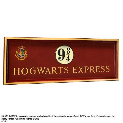 The Noble Collection Harry Potter Hogwarts Express 9 3/4 Sign ca 50x20cm Noble Collection