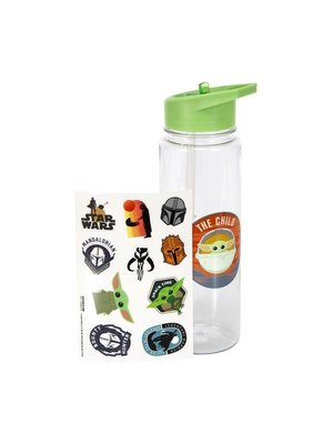 Star Wars The Mandalorian The Child Water Bottle with Stickers
