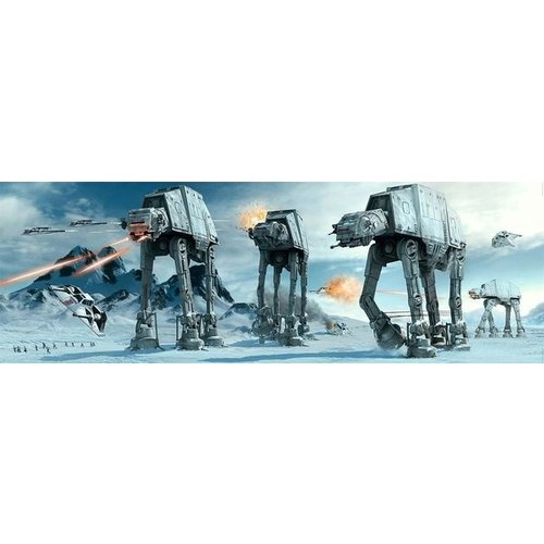 Hole in the Wall Star Wars At-At Fight Doorposter 53x158