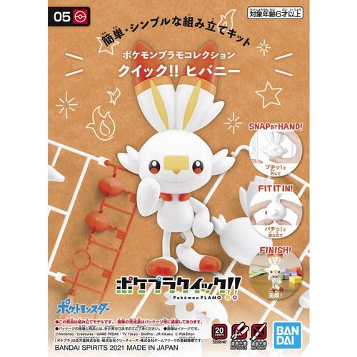 Bandai Pokemon Plamo Scorbunny 05 Collection Quick Model Kit